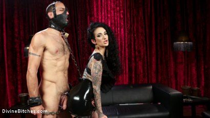 Photo number 13 from Bad Boy Toy shot for Divine Bitches on Kink.com. Featuring Arabelle Raphael and DJ in hardcore BDSM & Fetish porn.