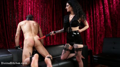 Photo number 7 from Bad Boy Toy shot for Divine Bitches on Kink.com. Featuring Arabelle Raphael and DJ in hardcore BDSM & Fetish porn.