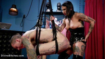 Photo number 27 from Joanna's Boutique: Joanna Angel Takes It Out On Her Cheap Customer shot for Divine Bitches on Kink.com. Featuring Ruckus and Joanna Angel in hardcore BDSM & Fetish porn.