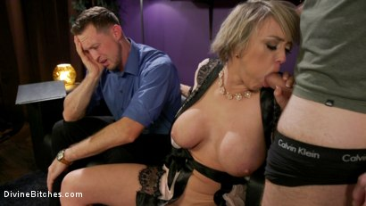 Photo number 7 from Couple's Cuckold Conundrum  shot for Divine Bitches on Kink.com. Featuring Dee Williams, Kip Johnson and Pierce Paris in hardcore BDSM & Fetish porn.