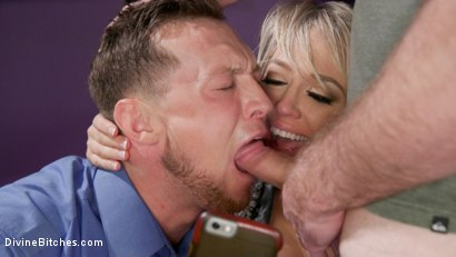 Photo number 8 from Couple's Cuckold Conundrum  shot for Divine Bitches on Kink.com. Featuring Dee Williams, Kip Johnson and Pierce Paris in hardcore BDSM & Fetish porn.