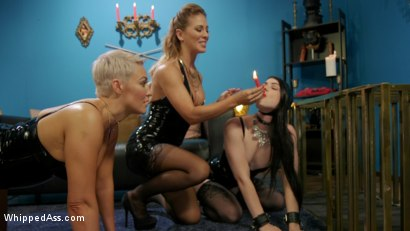Photo number 1 from Playthings: Ryan Keely & Lydia Black Are Cherie DeVille's Willing Toys shot for Whipped Ass on Kink.com. Featuring Ryan Keely, Lydia Black  and Cherie DeVille in hardcore BDSM & Fetish porn.
