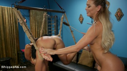 Photo number 15 from Playthings: Ryan Keely & Lydia Black Are Cherie DeVille's Willing Toys shot for Whipped Ass on Kink.com. Featuring Ryan Keely, Lydia Black  and Cherie DeVille in hardcore BDSM & Fetish porn.