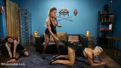 Photo number 7 from Playthings: Ryan Keely & Lydia Black Are Cherie DeVille's Willing Toys shot for Whipped Ass on Kink.com. Featuring Ryan Keely, Lydia Black  and Cherie DeVille in hardcore BDSM & Fetish porn.