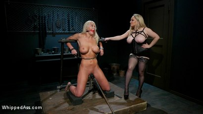 Photo number 10 from Screamer: The Intimate Torment of London River shot for Whipped Ass on Kink.com. Featuring Aiden Starr and London River in hardcore BDSM & Fetish porn.