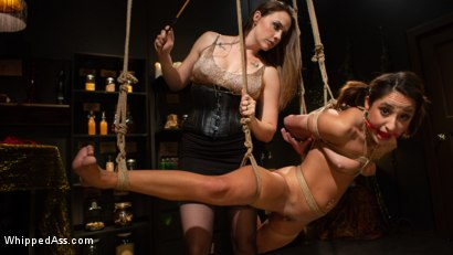 Photo number 13 from Virgin Lesbian Witchcraft: Chanel Preston Enchants Isabella Nice shot for Whipped Ass on Kink.com. Featuring Chanel Preston and Isabella Nice in hardcore BDSM & Fetish porn.