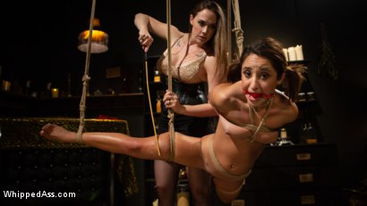 Photo number 14 from Virgin Lesbian Witchcraft: Chanel Preston Enchants Isabella Nice shot for Whipped Ass on Kink.com. Featuring Chanel Preston and Isabella Nice in hardcore BDSM & Fetish porn.