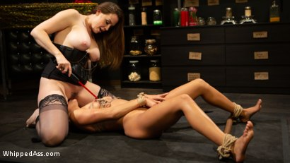 Photo number 9 from Virgin Lesbian Witchcraft: Chanel Preston Enchants Isabella Nice shot for Whipped Ass on Kink.com. Featuring Chanel Preston and Isabella Nice in hardcore BDSM & Fetish porn.