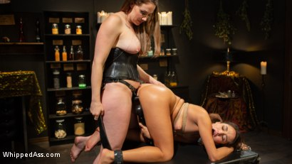 Photo number 10 from Virgin Lesbian Witchcraft: Chanel Preston Enchants Isabella Nice shot for Whipped Ass on Kink.com. Featuring Chanel Preston and Isabella Nice in hardcore BDSM & Fetish porn.