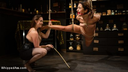 Photo number 2 from Virgin Lesbian Witchcraft: Chanel Preston Enchants Isabella Nice shot for Whipped Ass on Kink.com. Featuring Chanel Preston and Isabella Nice in hardcore BDSM & Fetish porn.