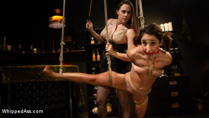 Photo number 3 from Virgin Lesbian Witchcraft: Chanel Preston Enchants Isabella Nice shot for Whipped Ass on Kink.com. Featuring Chanel Preston and Isabella Nice in hardcore BDSM & Fetish porn.