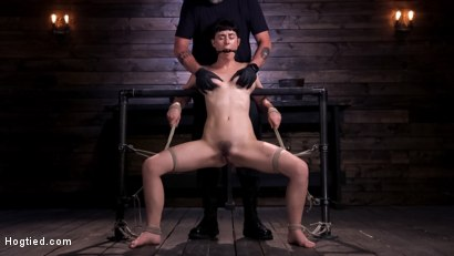 Photo number 2 from Hot Bodied, All Natural Rope Slut Submits to Torment and Orgasms shot for Hogtied on Kink.com. Featuring Olive Glass in hardcore BDSM & Fetish porn.