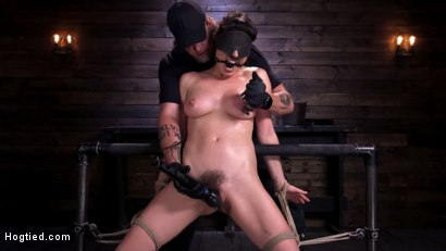 Photo number 7 from Hot Bodied, All Natural Rope Slut Submits to Torment and Orgasms shot for Hogtied on Kink.com. Featuring Olive Glass in hardcore BDSM & Fetish porn.