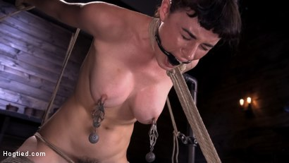 Photo number 8 from Hot Bodied, All Natural Rope Slut Submits to Torment and Orgasms shot for Hogtied on Kink.com. Featuring Olive Glass in hardcore BDSM & Fetish porn.