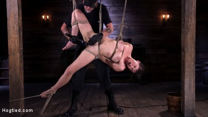 Photo number 13 from Hot Bodied, All Natural Rope Slut Submits to Torment and Orgasms shot for Hogtied on Kink.com. Featuring Olive Glass in hardcore BDSM & Fetish porn.