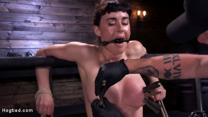 Photo number 4 from Hot Bodied, All Natural Rope Slut Submits to Torment and Orgasms shot for Hogtied on Kink.com. Featuring Olive Glass in hardcore BDSM & Fetish porn.