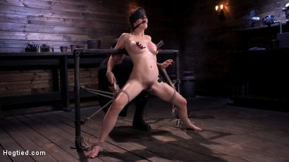Photo number 6 from Hot Bodied, All Natural Rope Slut Submits to Torment and Orgasms shot for Hogtied on Kink.com. Featuring Olive Glass in hardcore BDSM & Fetish porn.