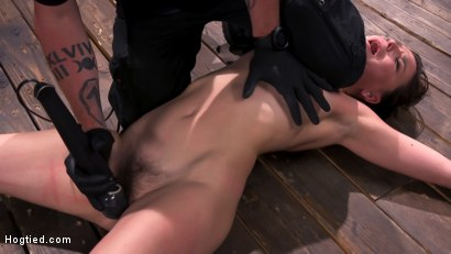Photo number 13 from Pain Slut Juliette March In Predicament Bondage And Suffering shot for Hogtied on Kink.com. Featuring Juliette March in hardcore BDSM & Fetish porn.