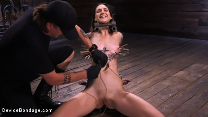 Photo number 3 from She Smiles When The Pain Comes shot for Device Bondage on Kink.com. Featuring Rocky Emerson in hardcore BDSM & Fetish porn.