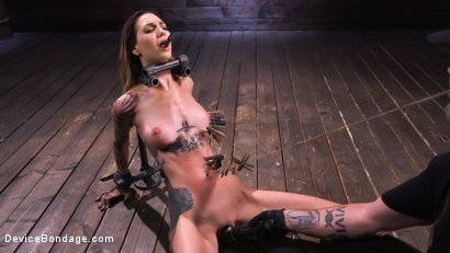 Photo number 4 from She Smiles When The Pain Comes shot for Device Bondage on Kink.com. Featuring Rocky Emerson in hardcore BDSM & Fetish porn.