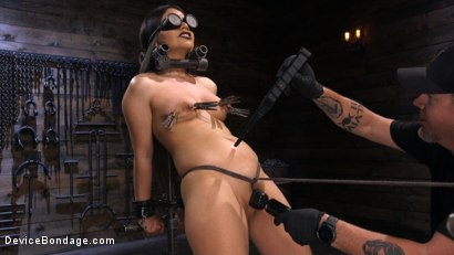 Photo number 6 from A Quiet Riot:Goth Slut Submits! shot for Device Bondage on Kink.com. Featuring Rose Darling in hardcore BDSM & Fetish porn.
