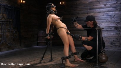 Photo number 4 from A Quiet Riot:Goth Slut Submits! shot for Device Bondage on Kink.com. Featuring Rose Darling in hardcore BDSM & Fetish porn.