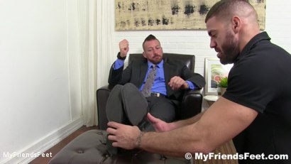 Photo number 2 from Hugh Hunter Worshiped Until He Cums shot for My Friends Feet on Kink.com. Featuring Hugh Hunter and Ricky Larkin in hardcore BDSM & Fetish porn.