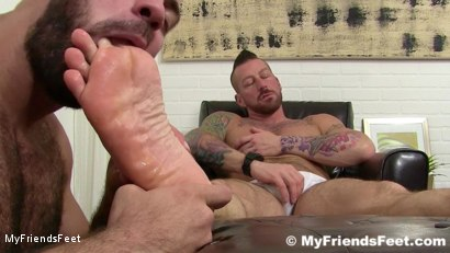 Photo number 11 from Hugh Hunter Worshiped Until He Cums shot for My Friends Feet on Kink.com. Featuring Hugh Hunter and Ricky Larkin in hardcore BDSM & Fetish porn.