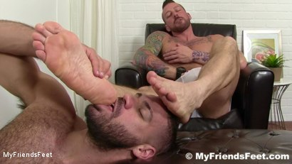 Photo number 14 from Hugh Hunter Worshiped Until He Cums shot for My Friends Feet on Kink.com. Featuring Hugh Hunter and Ricky Larkin in hardcore BDSM & Fetish porn.