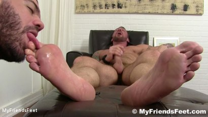 Photo number 18 from Hugh Hunter Worshiped Until He Cums shot for My Friends Feet on Kink.com. Featuring Hugh Hunter and Ricky Larkin in hardcore BDSM & Fetish porn.