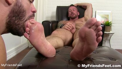 Photo number 20 from Hugh Hunter Worshiped Until He Cums shot for My Friends Feet on Kink.com. Featuring Hugh Hunter and Ricky Larkin in hardcore BDSM & Fetish porn.