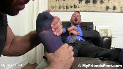 Photo number 3 from Hugh Hunter Worshiped Until He Cums shot for My Friends Feet on Kink.com. Featuring Hugh Hunter and Ricky Larkin in hardcore BDSM & Fetish porn.