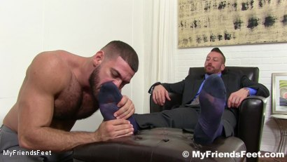 Photo number 4 from Hugh Hunter Worshiped Until He Cums shot for My Friends Feet on Kink.com. Featuring Hugh Hunter and Ricky Larkin in hardcore BDSM & Fetish porn.
