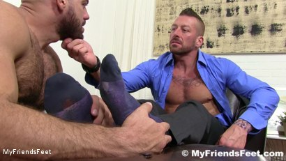 Photo number 6 from Hugh Hunter Worshiped Until He Cums shot for My Friends Feet on Kink.com. Featuring Hugh Hunter and Ricky Larkin in hardcore BDSM & Fetish porn.