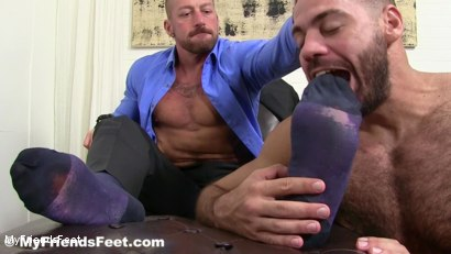 Photo number 8 from Hugh Hunter Worshiped Until He Cums shot for My Friends Feet on Kink.com. Featuring Hugh Hunter and Ricky Larkin in hardcore BDSM & Fetish porn.