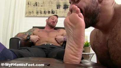Photo number 9 from Hugh Hunter Worshiped Until He Cums shot for My Friends Feet on Kink.com. Featuring Hugh Hunter and Ricky Larkin in hardcore BDSM & Fetish porn.