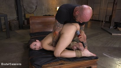 Photo number 19 from Jade Nile's Creamy, Tight Pussy Rope-Tied and Fucked Hard shot for Brutal Sessions on Kink.com. Featuring Derrick Pierce and Jade Nile in hardcore BDSM & Fetish porn.