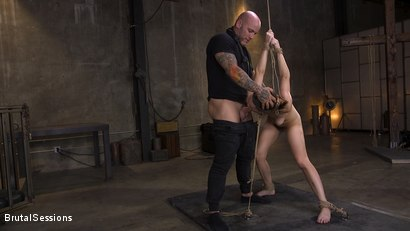 Photo number 6 from Jade Nile's Creamy, Tight Pussy Rope-Tied and Fucked Hard shot for Brutal Sessions on Kink.com. Featuring Derrick Pierce and Jade Nile in hardcore BDSM & Fetish porn.