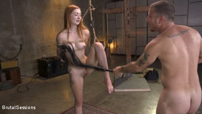 Photo number 11 from Redheaded Girl Next Store Megan Winters Fucked in Brutal Rope Bondage! shot for Brutal Sessions on Kink.com. Featuring Mr. Pete and Megan Winters in hardcore BDSM & Fetish porn.