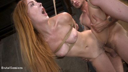 Photo number 15 from Redheaded Girl Next Store Megan Winters Fucked in Brutal Rope Bondage! shot for Brutal Sessions on Kink.com. Featuring Mr. Pete and Megan Winters in hardcore BDSM & Fetish porn.