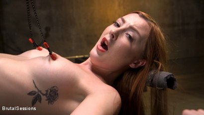 Photo number 2 from Redheaded Girl Next Store Megan Winters Fucked in Brutal Rope Bondage! shot for Brutal Sessions on Kink.com. Featuring Mr. Pete and Megan Winters in hardcore BDSM & Fetish porn.