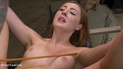 Photo number 27 from Redheaded Girl Next Store Megan Winters Fucked in Brutal Rope Bondage! shot for Brutal Sessions on Kink.com. Featuring Mr. Pete and Megan Winters in hardcore BDSM & Fetish porn.