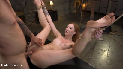 Photo number 28 from Redheaded Girl Next Store Megan Winters Fucked in Brutal Rope Bondage! shot for Brutal Sessions on Kink.com. Featuring Mr. Pete and Megan Winters in hardcore BDSM & Fetish porn.