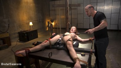 Photo number 3 from Redheaded Girl Next Store Megan Winters Fucked in Brutal Rope Bondage! shot for Brutal Sessions on Kink.com. Featuring Mr. Pete and Megan Winters in hardcore BDSM & Fetish porn.