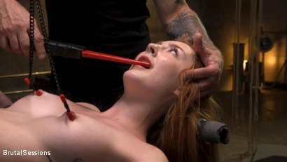Photo number 4 from Redheaded Girl Next Store Megan Winters Fucked in Brutal Rope Bondage! shot for Brutal Sessions on Kink.com. Featuring Mr. Pete and Megan Winters in hardcore BDSM & Fetish porn.