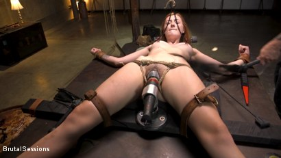 Photo number 7 from Redheaded Girl Next Store Megan Winters Fucked in Brutal Rope Bondage! shot for Brutal Sessions on Kink.com. Featuring Mr. Pete and Megan Winters in hardcore BDSM & Fetish porn.