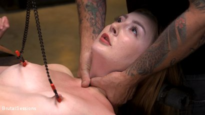 Photo number 8 from Redheaded Girl Next Store Megan Winters Fucked in Brutal Rope Bondage! shot for Brutal Sessions on Kink.com. Featuring Mr. Pete and Megan Winters in hardcore BDSM & Fetish porn.