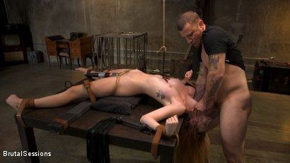 Photo number 9 from Redheaded Girl Next Store Megan Winters Fucked in Brutal Rope Bondage! shot for Brutal Sessions on Kink.com. Featuring Mr. Pete and Megan Winters in hardcore BDSM & Fetish porn.
