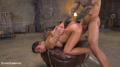 Photo number 18 from Petite Anal Whore Vienna Black Abused and Butt Fucked in Rope Bondage shot for Brutal Sessions on Kink.com. Featuring Eddie Jaye and Vienna Black in hardcore BDSM & Fetish porn.