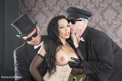 Photo number 13 from The Passenger  shot for Harmony Fetish on Kink.com. Featuring Ian Tate, Marc Rose and Rio Lee in hardcore BDSM & Fetish porn.